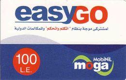 Egypt Easygo 100 LE MobiNil Moga Recharge Phonecard, Used - Egypte