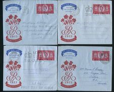 GREAT BRITAIN 1953 CORONATION AIR LETTER FIRST DAY - Great Britain