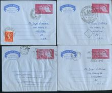GREAT BRITAIN STATIONERY 1960-1966 AIR LETTERS RAILWAY PAQUEBOT EX JENNINGS - Great Britain