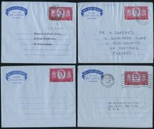 GREAT BRITAIN QUEEN ELIZABETH EGYPT FIRST DAY FORCES AIR LETTERS 1954 - Great Britain