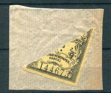 GREAT BRITAIN GREAT WESTERN RAILWAY C1910 BISECT NEWSPAPER PARCEL STAMP - 1902-1951 (Kings)