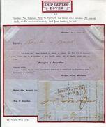 GREAT BRITAIN GERMANY EMDEN DOVER KENT PLYMOUTH DEVON SHIP LETTER 1853 - Great Britain