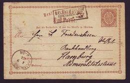 DANZIG/RAILWAY STATIONERY GERMANY 1874 - Germany