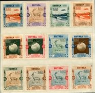 ITALIAN COLONIES ERITREA 1934 SPECIMENS CAMELS AIR - Italy
