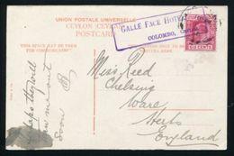 CEYLON GALLE FACE HOTEL 1906 KE7 - Ceylon (...-1947)