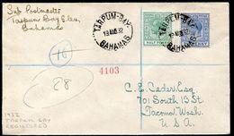 BAHAMAS ELEUTHERA ISLAND TARPUM BAY PINEAPPLES 1932 - Bahamas (...-1973)