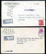 HONG KONG 1962/64 REGISTERED COVERS - Hong Kong (...-1997)
