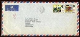 SEYCHELLES AIRMAIL RATE COVERS QE2 - Seychelles (...-1976)