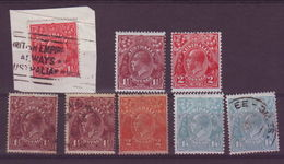 AUSTRALIA GEORGE V TO 1/4 - Collections