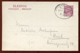 SCHLESWIG STATIONERY SPECIAL OVPT TONDERN BAHNPOST - Germany