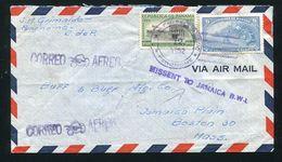 PANAMA PENONOME JAMAICA MISSENT HARDSTAMP A GREAT COVER - Panama
