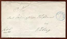 SCHLESWIG 1861 TONDER TO VIBORG - Germany