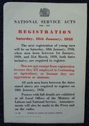 GREAT BRITAIN NATIONAL SERVICE FORCES 1957 MINISTRY OF LABOUR - Old Paper