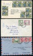 JAMAICA POSTMARKS GEORGE SIXTH ELIZABETH MONA TOWER - Jamaica (...-1961)