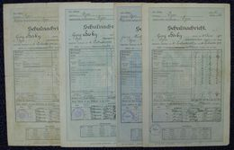 CZECHOSOLOVAKIA AUSTRIA SCHOOL REPORTS 1908/1918 FISCALS - Czech Republic