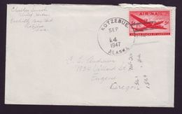 USA KOTZEBUE ALASKA ESKIMO POLAR EUGENE OREGON 1947 - Postal History