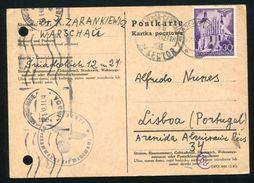 POLAND TO PORTUGAL UNDERCOVER ADDRESS WW2 - Poland