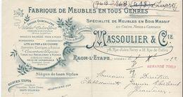 Fabrique De Meubles En Tous Genres/ Massoulier & Cie/ Rue Jules Ferry/ RAON-L-ETAPE/ Vosges / 1922    FACT212 - Francia