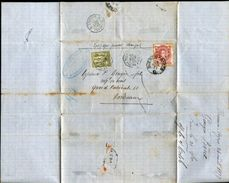 ARGENTINA FRANCE COMBINATION MARITIME FRENCH MAILBOAT SENEGAL 1877 PAQUEBOT - Argentina
