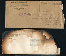 UNITED STATES AIR CRASH AND WRECK PENNSYLVANIA 1933 CALIFORNIA - Postal History