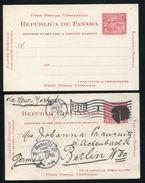 PANAMA STATIONERY AMERICAN BANKNOTE BOCAS DEL TORO MAP MOBILE ALABAMA FLAG 1905 - Panama