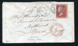 GB 1870 POSTAGE DUE RARE LONDON POSTMARK - 1840-1901 (Victoria)