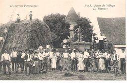 12 - L'AVEYRON PITTORESQUE : LA BATTEUSE . SUPERBE ! - Autres Communes