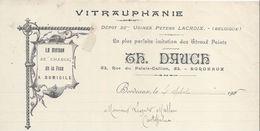Décoration/ Vitraux Peints/ Th DAUCE / Rue Du Palais -Gallien / BORDEAUX/ 1906    FACT213 - Francia