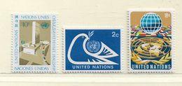 NATIONS UNIS - NEW YORK  ( D18 - 4434 )   1974   N° YVERT ET TELLIER  N° 242/244   N** - New York -  VN Hauptquartier