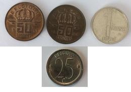 Belgique 1 Franc 1994 - Belgique 50 Centimes 1959 - Belgie 50 Centimes 1964 - Belgique 25 Centimes 1971 - Unclassified