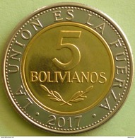 Bolivia 2017 NUEVA MONEDA  5 Bolivianos BIMETALICA.  UNC. See Desc. - Bolivia