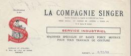 Machines à Coudre/ La Compagnie Singer/Service Industriel /  NANCY / 1925  FACT215 - Francia
