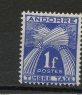 ANDORRE FR -  TIMBRE TAXE -  N° Yvert  33  ** - Timbres-taxe