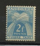 ANDORRE FR -  TIMBRE TAXE -  N° Yvert  34  ** - Timbres-taxe