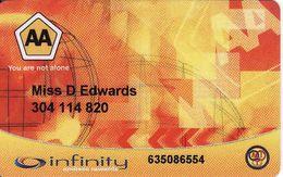 Afrique Du Sud - South Africa Automobile Association, Emergency Rescue Service, Magnetic Card - Moteurs