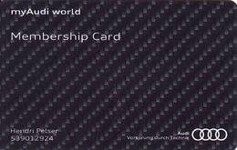 Afrique Du Sud - South Africa Audi Emergency Rescue Service, Membership Card - Moteurs