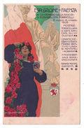 """CARTOLINA  PUBBLICITARIA UFFICIALE  """"ESPOSIZIONE DI FAENZA"""" 15 AGOSTO 15 OTTOBRE 1908   ILLUSTRATORE MARCELLO DUDOVICH - Publicité"""