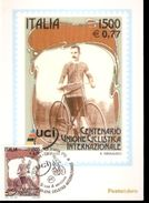 CENTENARIO UNIONE CICLISTICA INTERNAZIONALE CARTOLINA MAXIMUM 2000 - Ciclismo