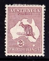 Australia 1929 Kangaroo 2/- Maroon Small Multi Wmk MH - Listed Variety - Mint Stamps