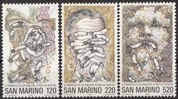 1057 San Marino 1980 Lotta Contro Il Fumo Tabacco Nuovo MNH Full Set Tabagismo - Droga