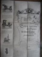 Carte Routière De FRANCE DE DION BOUTON 1902 (2e éd. ) :ensemble De 4 Cartes Toilées (79 X 63,5 Cm) Graveur F. VAVASSEUR - Cartes Routières