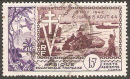 Africa Ecuatorial Francesa Aereo Usado U 57 (o) Foto Estandar. 1954 - Usados