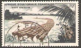 Africa Ecuatorial Francesa Aereo Usado U 58 (o) Foto Estandar. 1955 - Usados