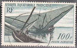 Africa Ecuatorial Francesa Aereo Usado U 59 (o) Foto Estandar. 1955 - Usados