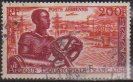 Africa Ecuatorial Francesa Aereo Usado U 60 (o) Foto Estandar. 1955 - Usados