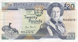 BILLETE DE JERSEY DE 20 POUND DEL AÑO 2000 EN CALIDAD EBC (XF)  (BANKNOTE) - Jersey