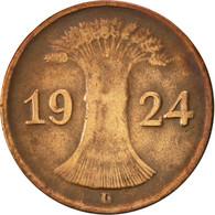 Allemagne, République De Weimar, Rentenpfennig, 1924, Munich, TTB, Bronze - 1 Rentenpfennig & 1 Reichspfennig