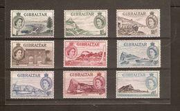 GIBRALTAR 1953 -1959 SET TO 6d SG 145/153 MOUNTED MINT Cat £33+ - Gibraltar