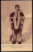OLD CARD MISSIONS IN NORTH CANADA - ESKIMO GIRL IN TRADITIONAL FEAST CLOTHING - Card Perfect Condition - Rare ! - Non Classés