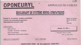Buvard OPONEURYL Ampoules Buvables -équilibrant Du Système Neuro-sympathique - Produits Pharmaceutiques